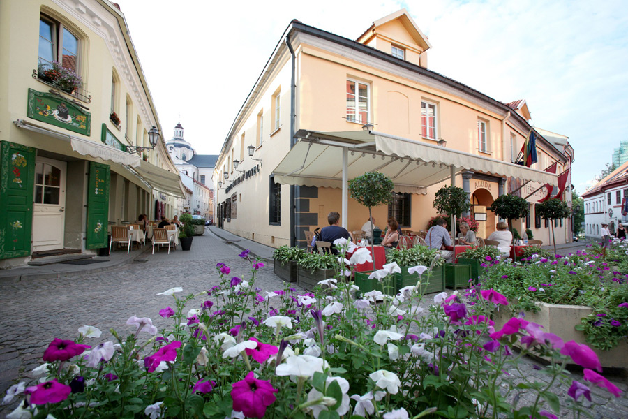 Stikliai Hotel Restaurant Vilnius Summer Terrace